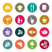 Icone ristorante — Vettoriale Stock