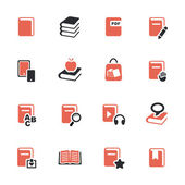 Book icons set — Vettoriale Stock