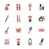 Schoonheid en make-up pictogrammen — Stockvector