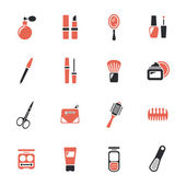 Skönhet och smink ikoner — Stockvektor