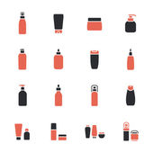 Cosmetic bottle icons — Stock Vector