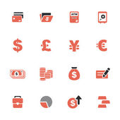 Finance and money theme icons set — Stock Vector