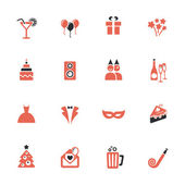 Party icons — Vector de stock