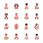 Professions icons set — Stock Vector