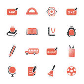 School theme icons set — Vector de stock
