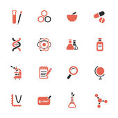 Science theme icons — Stock Vector