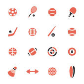 Sports theme icons — Stock Vector
