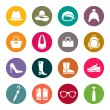 Accessories icon set — Imagen vectorial