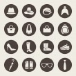 Accessories icon set — Image vectorielle