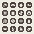 Bakery icon set — Stockvektor
