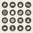 Bakery icon set — Stok Vektör
