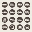 Car icon set — Image vectorielle