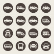 Stock Vector: Car icon set
