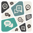 Speech bubble icon set — Image vectorielle