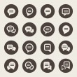 Speech bubble icon set — Stock Vector #35216381
