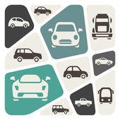 Conjunto de iconos de vehículos — Vector de stock
