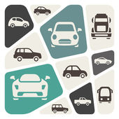 Vehicles icon set — Stok Vektör