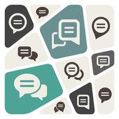 Speech bubble icon set — Stock Vector