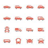 Car icon set — Stock Vector