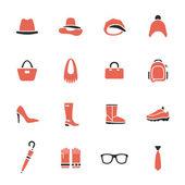 Accessories icon set — Stock Vector