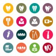 Dental theme icons — Stock Vector #36928005