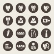 Stock Vector: Dental theme icons