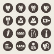 Dental theme icons — Stock Vector #36928325
