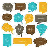 Speech bubble set — Vecteur
