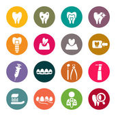 Dental theme icons — Stock Vector