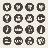 Dental theme icons — Wektor stockowy