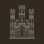 Gothic castle vector illustration — Vettoriale Stock