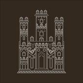 Ilustración de vector castillo gótico — Vector de stock