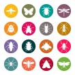 Insects icon set — Stock Vector #36980591