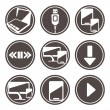 Electronic devices icon set — Stock Vector