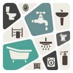 Bathroom items background — Stock Vector #36999137