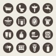 Stock Vector: Bathroom icon set