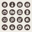 图库矢量图片: Real estate theme icons
