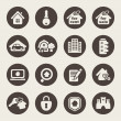 Stock vektor: Real estate theme icons