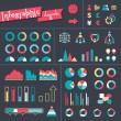 Stock Vector: Set elements of infographics.
