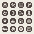 Car service icon set — Stock Vector