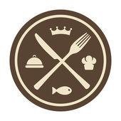 Restaurant icon — Stock Vector