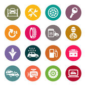 Auto-service-icon-set — Stockvektor