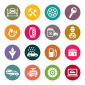 Auto service icon set — Stock Vector