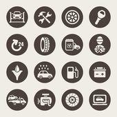 Car service icon set — Stock Vector