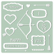 Valentine's Day elements — Stock Vector