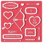 Valentine's Day elements — Stock Vector