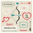 Valentine's Day elements — Vector de stock
