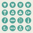 Vector de stock : Dental icon set