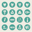 Dental icon set — Vector de stock #38316915