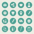 Stock Vector: Medical icon set